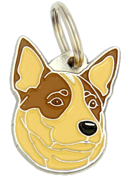 AUSTRALIAN CATTLE DOG RED - pet ID tag, dog ID tags, pet tags, personalized pet tags MjavHov - engraved pet tags online